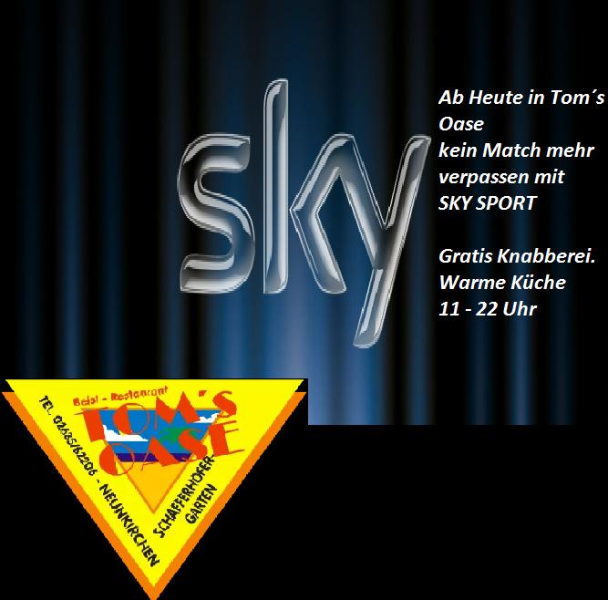 Sky Sport in Tom's Oase